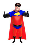 Rendered illustration of superhero with thums up pose Royalty Free Stock Images