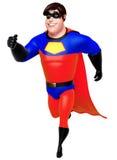 Rendered illustration of superhero with walking pose Stock Photo