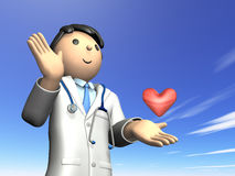 Rendered image depicting the kind doctor Stock Image
