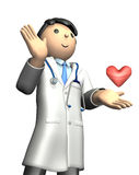Rendered image depicting the kind doctor Stock Photography