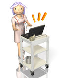 Rendered image depicting a kind nurse Stock Photography