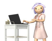 Rendered image depicting a kind nurse Stock Images