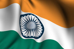 Rendered Indian Flag Stock Image