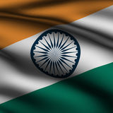 Rendered Indian Square Flag Royalty Free Stock Photo