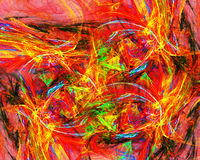 Rendered infernal hell. Abstract illustration stock illustration