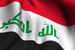 Rendered Iraqi Flag Royalty Free Stock Images