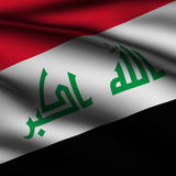Rendered Iraqi Square Flag Royalty Free Stock Photos