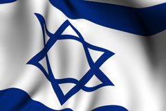 Rendered Israeli Flag stock illustration