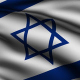 Rendered Israeli Square Flag Royalty Free Stock Images