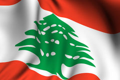 Rendered Lebanese Flag Royalty Free Stock Photos