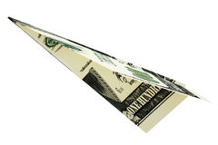 Rendered money dollars airplane Royalty Free Stock Photo