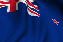 Rendered New Zealand Flag Royalty Free Stock Image