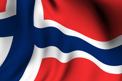Rendered Norwegian Flag Stock Image