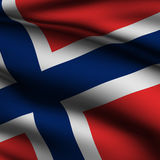 Rendered Norwegian Square Flag Stock Photography