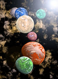 Rendered outer space. Stock Photos
