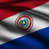 Rendered Paraguayan Square Flag Royalty Free Stock Photo