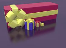 Rendered of presents Royalty Free Stock Photos