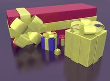 Rendered of presents Stock Photography
