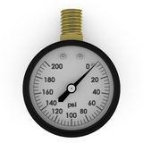 Rendered pressure gauge. Isolated on white vector illustration