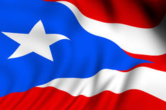 Rendered Puerto Rican Flag Royalty Free Stock Photo
