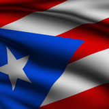 Rendered Puerto Rican Square Flag Royalty Free Stock Photo