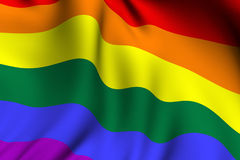 Rendered Rainbow Flag Stock Images
