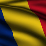 Rendered Romanian Square Flag Royalty Free Stock Photography