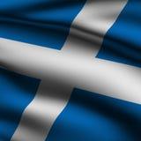 Rendered Scottish Square Flag Stock Images