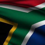 Rendered South African Square Flag Stock Photo