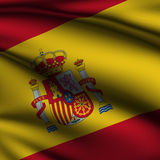 Rendered Spanish Square Flag Stock Image