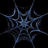 Rendered spider web. Spider web glowing in the dark Stock Image