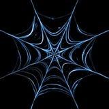 Rendered spider web. Spider web glowing in the dark vector illustration