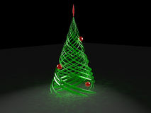 Rendered stylized Christmas pine tree Stock Images