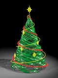 Rendered stylized Christmas pine tree. The rendered stylized Christmas glass pine tree Royalty Free Stock Image