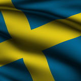 Rendered Swedish Square Flag Royalty Free Stock Images