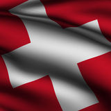 Rendered Swiss Square Flag Royalty Free Stock Image