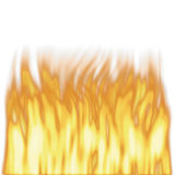 Rendered tall flames stock photography