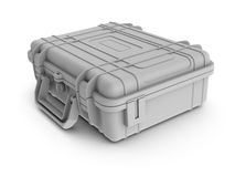 Rendered textureless white instrument case Stock Photos