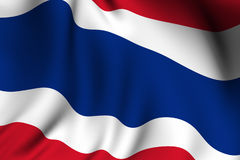 Rendered Thai Flag Royalty Free Stock Image