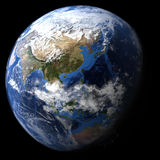 Rendered three dimensional earth Stock Photography