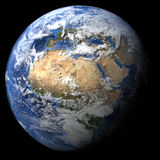Rendered three dimensional earth Royalty Free Stock Photo