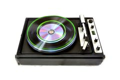Rendered vinyl player. Isolated on white background Royalty Free Stock Photos