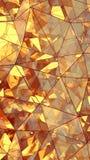 Renderi en verre multicouche triangulé de l'abrégé sur 3D construction Photos stock