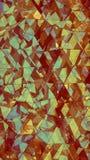 Renderi en verre multicouche triangulé de l'abrégé sur 3D construction Image stock