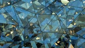 Renderi en verre multicouche triangulé de l'abrégé sur 3D construction Images stock