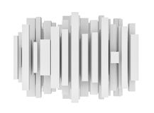 Rendering of abstract different sized lines on white background. 3d rendering of abstract different sized lines on white background. 3d illustration. Computer Stock Images