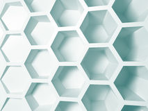 Rendering abstract white nano background Royalty Free Stock Image