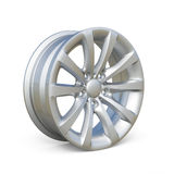 Rendering of an alloy rim  on white background Royalty Free Stock Photos