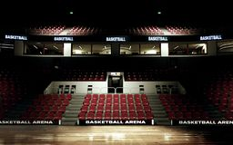 Rendering of basketball arena background no people royalty free stock images