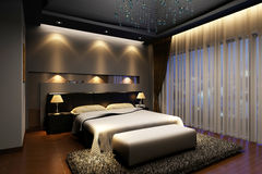 Rendering  bed room Stock Photos